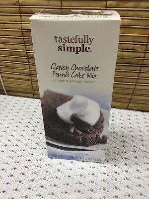 Tastefully Simple Classy Chocolate Pound Cake Mix  Chocolate Pound Cake Mix