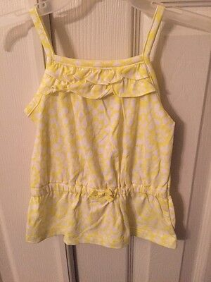 NWT - Infant Girl's Carter's Yellow & White Floral Tunic Tank Top, 9 Months