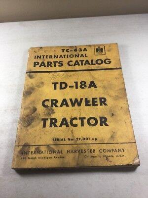 International Td-18a Crawler Tractors Parts Catalog Manual