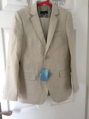 Jasper J Conran Boys Beige Suit Set,Suit Size 11-12 Years/trousers Size 12 Years