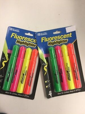 Bulk Fluorescent Highlighters Multi Color - 20 Sets Of 4