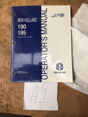New Holland Manure Spreader 190 195 Operators Manual