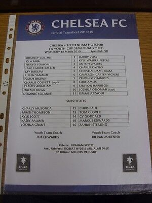 18/03/2015 FA Youth Cup Semi-Final: Chelsea Youth v Tottenham Hotspur Youth  (Si