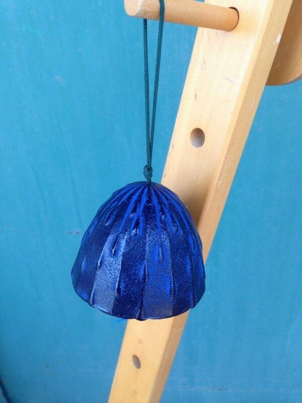 Furin Wind Chime  Bell Nanbu Cast IronHandcraft Blue Drop Shizuku Made in Japan
