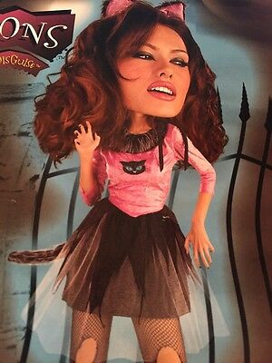 Bad Kitty Cat  Halloween Costume  adult woman One Size Free Ship brand new - Bad Kitty Cat Kostüm
