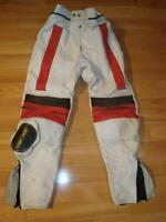 White Leather Motorcycle Pants - Size 27 - 29