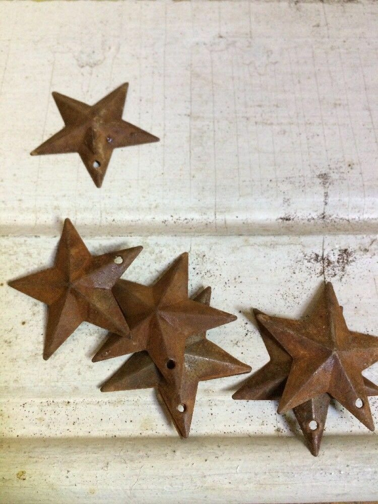 "200 TOTAL Rusty Barn Stars (100) 1.5"" & (100) 2.25"" Country Rust Rustic Craft"