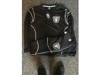 OFFICIAL NFL OAKLAND RAIDERS GYM SUITS TOP AND BOTTOMS SIZE SMALL RRP£99