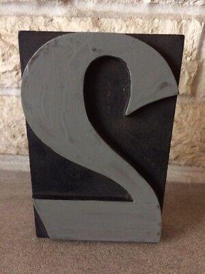 Vintage Letterpress Wood Print Block Number 2