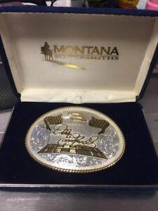 Dale Earnhardt Sr. #3 Belt Buckle By Montana Silversmiths New In Box