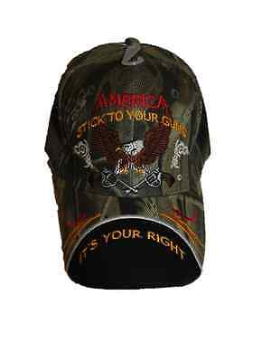 RIOHIO 2nd Amendment America Stick to your Guns It/'s your right Camo Cap Hat