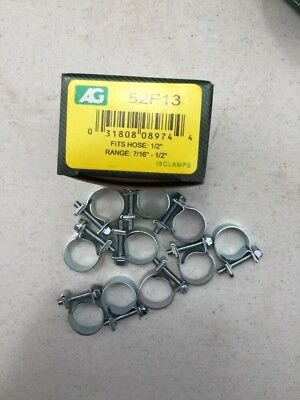 """1/4"""" fuel injection hose clamps-10 / Box"""