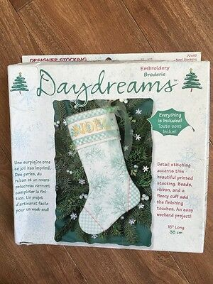 Dimensions Daydreams NOEL Stocking Christmas Embroidery Kit 72682 NEW COMPLETE