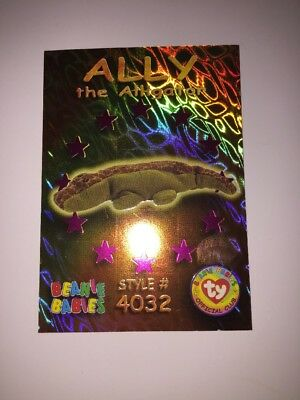 Beanie Baby Trading Card - Holographic Ally the Alligator #4032/ Card#46