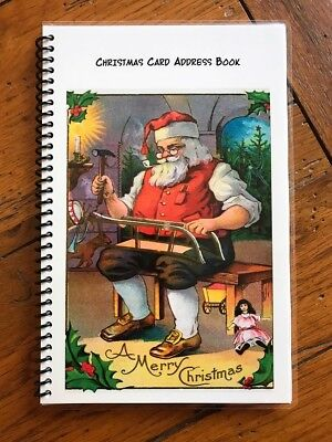 CHRISTMAS CARD ADDRESS BOOK Organizer A-Z Personalized Gift 8 yrs Toy Maker 230 ()