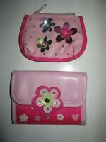 Little Girl's Pink Poppy Wallet and Coinpurse set, EUC