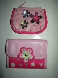 Little Girl's Pink Poppy Wallet and Coinpurse set, EUC Belleville Belleville Area image 1