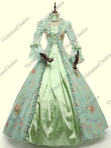Victorian Renaissance Faire Spring Floral Ball Gown Fairytale Dress Theater 138