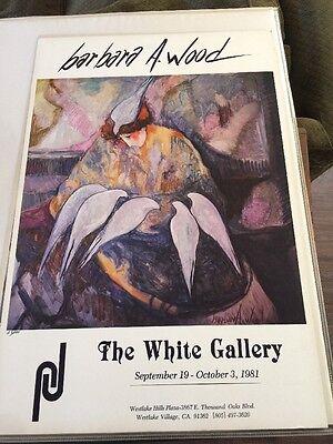 Vintage 1981 Barbara A. Wood Exhibit Print, The White Gallery 1981, No. 28/100