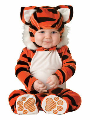 6 Month Baby Costumes (Lil Characters Unisex-baby Newborn Tiger Costume, Orange/Black/White, 6-12)