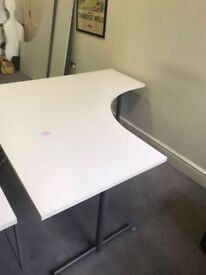 2 Corner Office desk in white for sale. Excellent condition and Delivery possible