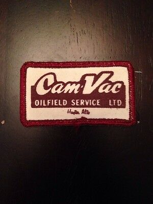Cam-vac Oilfield Service Ltd 3 Patch Sew On Hayter Alberta Canada Oil Rig Ab