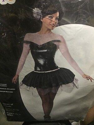 SWAN OF DEATH  L Sexy Deluxe Women's Disguise Ballet Dancer Costume Black - Black Swan Costumes