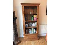 Solid oak book case