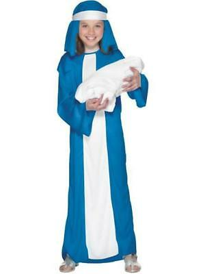 ★ Weihnachten Heilige Maria Krippenspiel Kostüm Kind ,Mädchen 110-122 Bibel Jung