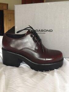 Vagabond Dioon Lace Up Shoes, Bordeaux Leather BNIB UK6/ EU39. RRP £89.99