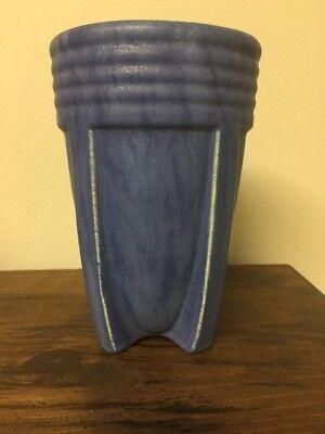 RARE EARLY CAMARK ART POTTERY BLUE MATT ROCKET VASE #517 ARTS & CRAFTS 1931
