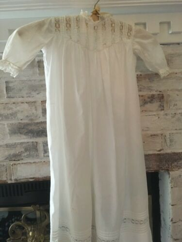 Christening dress antique with lace accents