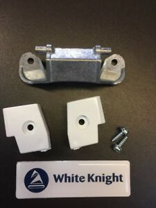 WHITE KNIGHT TUMBLE DRYER DOOR HINGE - BLOCKS  AND SCREWS - 4213 092 25361