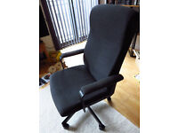 (reserved until 23/8 - 10am) Ikea office chair, cloth, charcoal grey