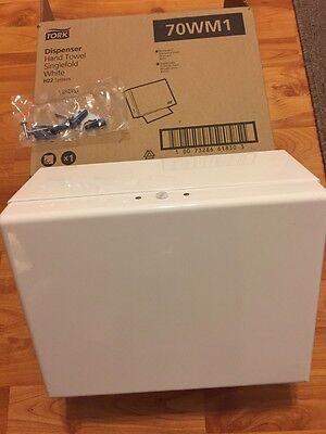 Tork 70wm1 Hand Towel Dispenser - Single Fold - White - New
