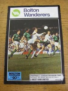28-03-1981-Bolton-Wanderers-v-West-Ham-United-Creased-Folded