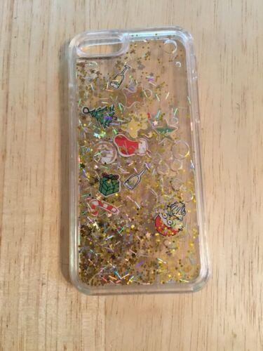 Iphone 6/6s Transparentes Plastik Handyhülle Schwimmende Gold Glitzer Christmas