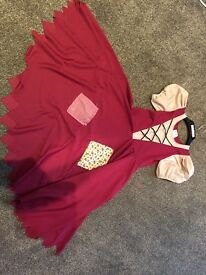 Cinderella (rags) dress and broom
