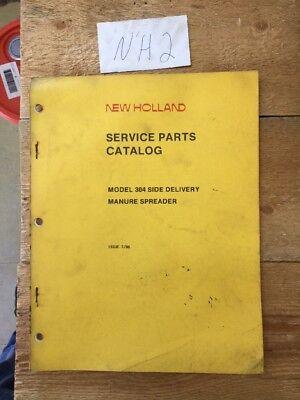 New Holland 304 Slurry Manure Spreader Parts Catalog Book Manual