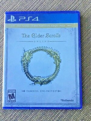 Elder Scrolls Online Tamriel Unlimited  Ps4  New  Sealed   Free Shipping