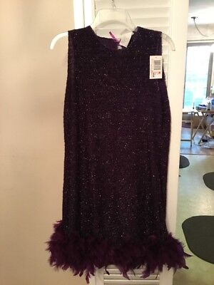 Kmart Halloween Costumes For Women (NWT K-Mart Women's Sz M Halloween Costume Dress Purple Shimmery Feather)