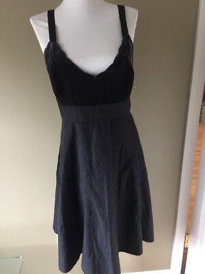 Anthropologie Moulinette Soeurs Black Velvet Silk Blend Dress 6 sleeveless NEW