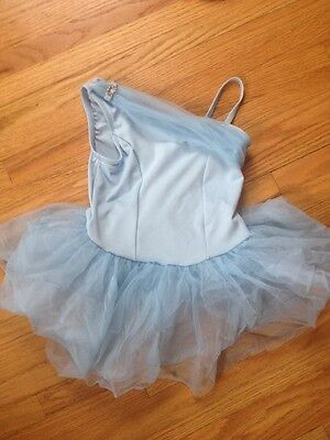 Princess Aurora 6x-7 Girls Baby Blue Dance Ballet Costume Dress-up EUC 2295