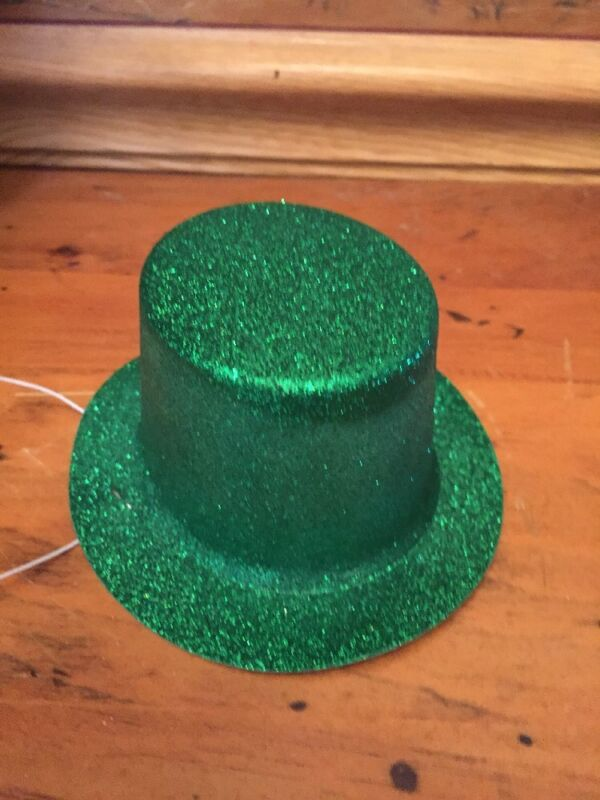 Plastic ST. PATRICKS DAY Glitter Irish Hat Puppy/Dog xs/sm