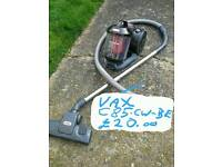 Vax cylinder vacuum cleaner, good working order,