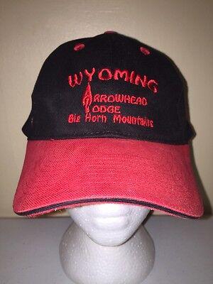 Wyoming Arrowhead Lodge Vintage Baseball Cap Trucker Hat Retro Rare Dd