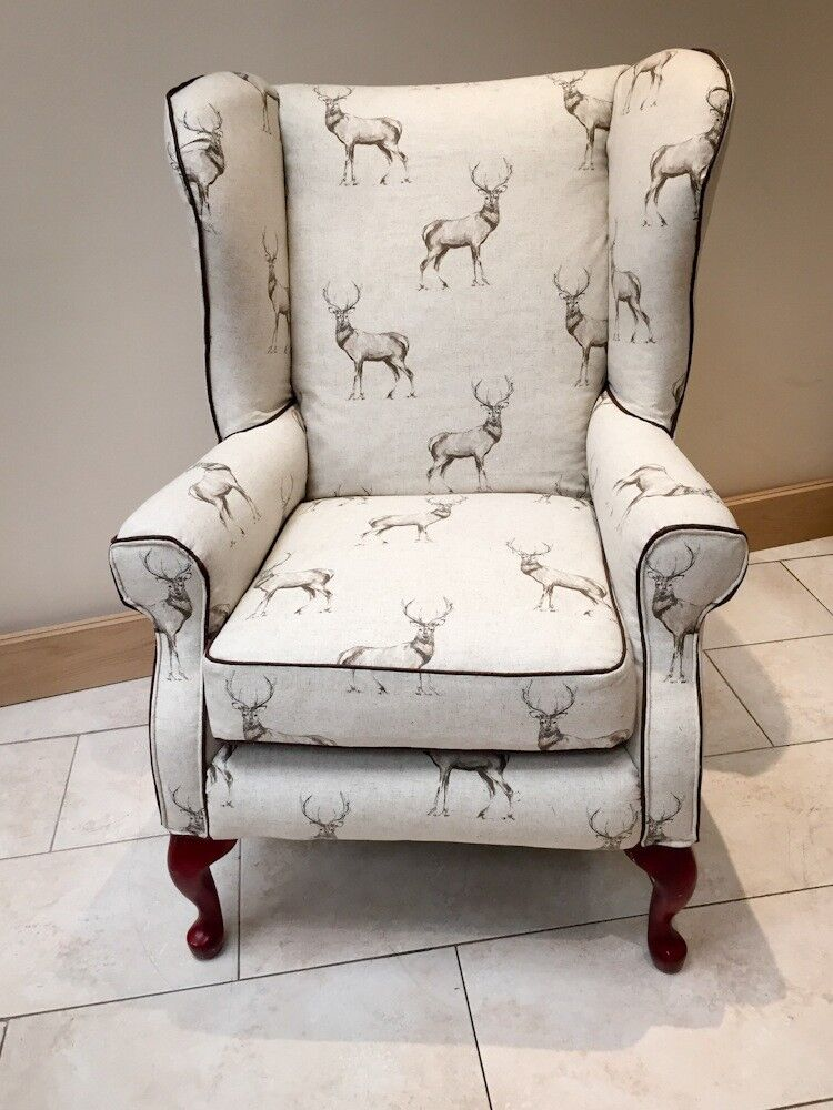 Incroyable Bespoke Re Upholstered Wingback Chair / Armchair
