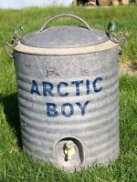 Galvanized 'Arctic Boy' water cooler/dispenser