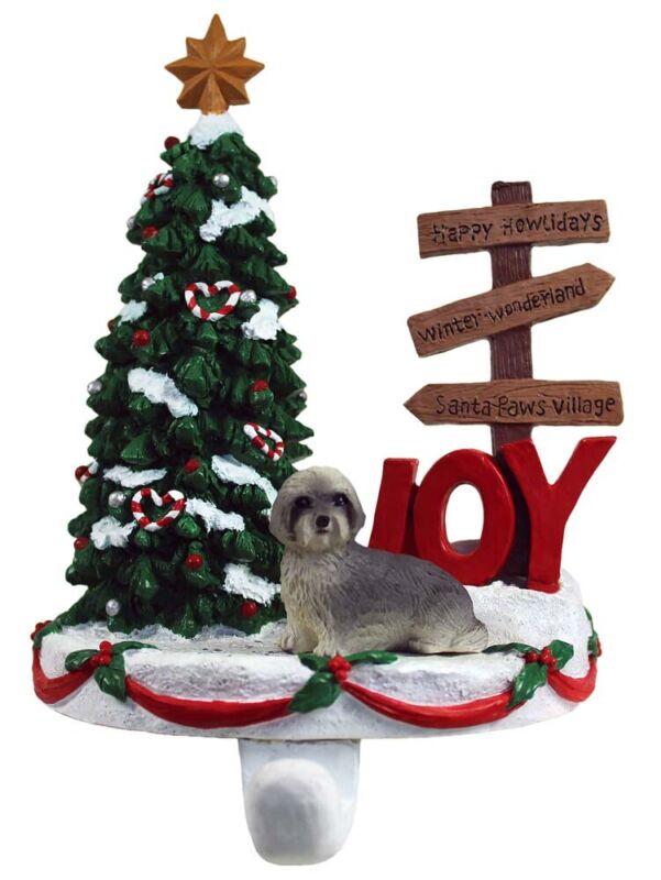 Lhasa Apso Stocking Holder Hanger Gray Puppy Cut