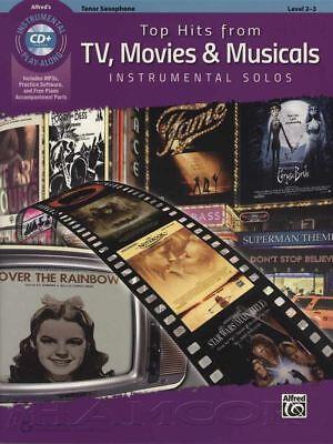 Top Hits from TV, Movies & Musicals Tenor Saxophone Sax Sheet Music Book & CD Alfred Tenor Sheet Music